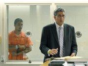 Murder suspect Benjamin Vargas and attorney Ron Bamieh