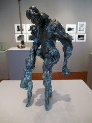 Aaron Roberts's bronze figure in the 2011 Teen Arts Mentorship Group Exhibition.