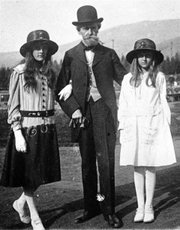 <strong>Butte, circa 1917:</strong>  Huguette Clark (right) with her father, Montana's former senator William Clark, and her sister Andrée.