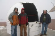Wayne Rosing (far right) on site in Chile with staff engineers Ben Burleson and Ben Haldeman.