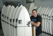 J7 surf shop owner Jason Feist at his new location on Mason Street in the heart of Santa Barbara's Funk Zone.