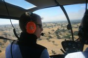 Dan Casey of Channel Islands Helicopters during the tour of Neverland Ranch