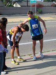 Sergey Sushchikh (left) finished behind Forest Braden in the Semana Nautica 15K Run on July 4.