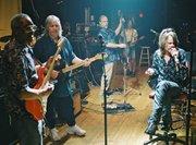 Duncan with David Johansen (aka Buster Poindexter), Steve Morse, and Hubert Sumlin (Nashville, ca. 2002)
