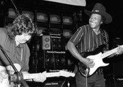 Duncan with Lonnie Brooks (Chicago, ca. 1984)
