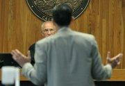 Defense attorney William Makler makes arguments to Judge George C. Eskin during the Jonathan Batalas hearing June 27, 2011