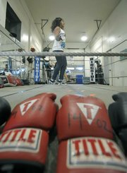 Valeria Delgado works out in the ring at Primo June 27, 2011