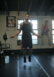 Francisco Santana puts in a quick workout at Primo