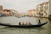 Gondola Crossing Grand Canal
