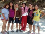 """According to Elizabeth Santos (fourth from left), a 12-year old camper this summer from Santa Ynez attending Circle V Ranch Camp for the third time, said her favorite things were, """"Making new friends with other girls in her outfit (pictured), doing skits around the fire pit and the delicious food every day. Every parent should send their kids to Circle V!"""""""