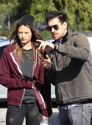 Noot Seear and director Karl Ford on location filming <em>Burial</em>.