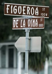 De la Vina and Figueroa intersection