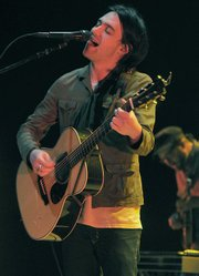 Conor Oberst led a six-piece band Sunday night at the Bowl.