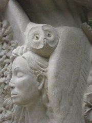 Closeup of Francis Jansen's <em>Pillars of Providence</em> sculpture