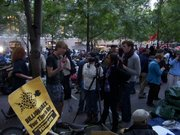 Occupy Wall Street protestors interview each other