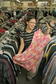 Alpha Thrift Store supervisor Gina Vanni