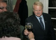 Randy Rowse toasts to good election night numbers at the Paradise Cafe Nov. 8, 2011