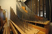 Reconfiguring this 1905 pipe organ will allow the mission's solstice window to be reopened.