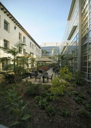 Santa Barbara Cottage Hospital's central courtyard