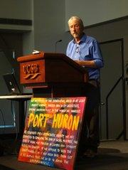 Tom Hayden at 50th anniversary of Port Huron Statement's creation