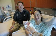 Jake Neel, born 7 lbs. 4 oz. at 5:33 p.m. Feb. 11, with mom Quy and dad Jay was the last baby born in the original Cottage facility,