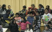 Cleveland Elementary students play the blues