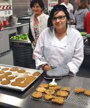 Carpinteria High junior Betsy Ayala in her Culinary Arts Institute class.