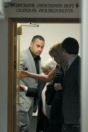 Koa Misi leaves Santa Barbara Superior Court after posting bail (April 20, 2012)
