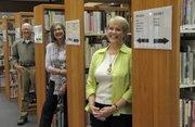 Friends of the Goleta Valley Library, from left to right: Doug Buckmaster, member; Mahela Morrow-Jones, spokesperson; and Corinne Horowitz, president