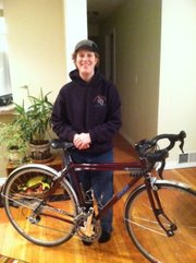 Danielle Booth with her custom bike.