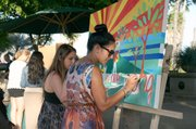 """EENG student instructors take part in """"collective painting"""" project."""