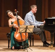 Ani Aznavoorian and Warren Jones played Beethoven's Variations in F Major, a series based on an aria from Mozart's <em>The Magic Flute.</em>