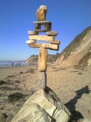 Beach sculpture by Josh Vaughan