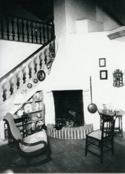 Interior of the Moody Tea Cottage, 1932.
