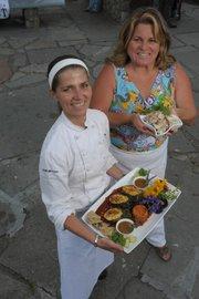Edie Robertson's Flame-Grilled, Seitan-Stuffed Pasilla Chilies.