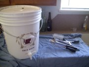 Fermenting bucket and tools