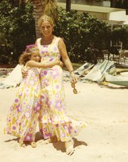 Steffi and her mother in Hawai'i.