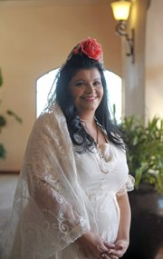<b>2012 St. Barbara: Elizabeth Cook.</b> Each Fiesta since 1926, Saint Barbara is chosen from one of the members of the Native Daughters of the Golden West. Elizabeth Cook earned the honor this year and will be representing the saint at Old Spanish Days events.
