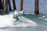 Lakey Peterson competes in the Women's Pro Division of the Nike U.S. Open of Surfing