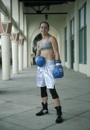 State Street Boxing club fighter Federica Bianco with coach Josh Schneyer. (July 12, 2012)