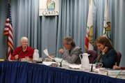 Members of the Goleta Planning Commission: (from left to right) Jonny Wallis, Brent Daniels, and Julia Kessler Solomon