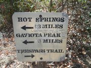 Trespass Trail sign