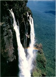 Dr. Joseph Weber of Santa Barbara Dental Care plummets along Angel Falls in Venezuela. At 3,212 feet, it's the world's tallest waterfall.
