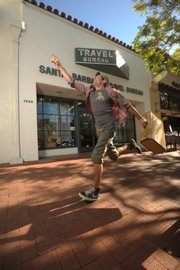 Planning a trip? Run by Santa Barbara Travel Bureau, as Ben Ciccati, <i>Independent</i> associate art director and illustrator, is doing here.
