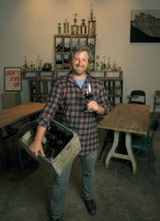 Owner Dave Potter makes a great case for sippers and swirlers at Municipal Winemakers' tasting room.