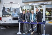 Representing Montecito Bank & Trust is Javier Quezada, Goleta Branch Manager, Rob Skinner, Chief Operating Officer and Janet Garufis, CEO with Easy Lift's Executive Director Ernesto Paredes.