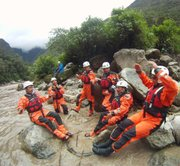 Santa Barbara and Macchu Pichu search and rescue personnel train in the Urubamba River