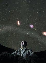 Javier Rivera in the Gladwin Planetarium