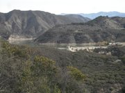 Long view of Gibraltar Dam