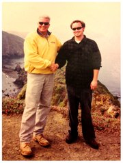 Huell Howser and Matt Kettmann on Anacapa Island in 2003